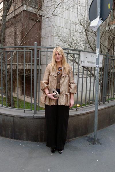 Milan Fashion Week: день четвертый – луки. Изображение № 21.