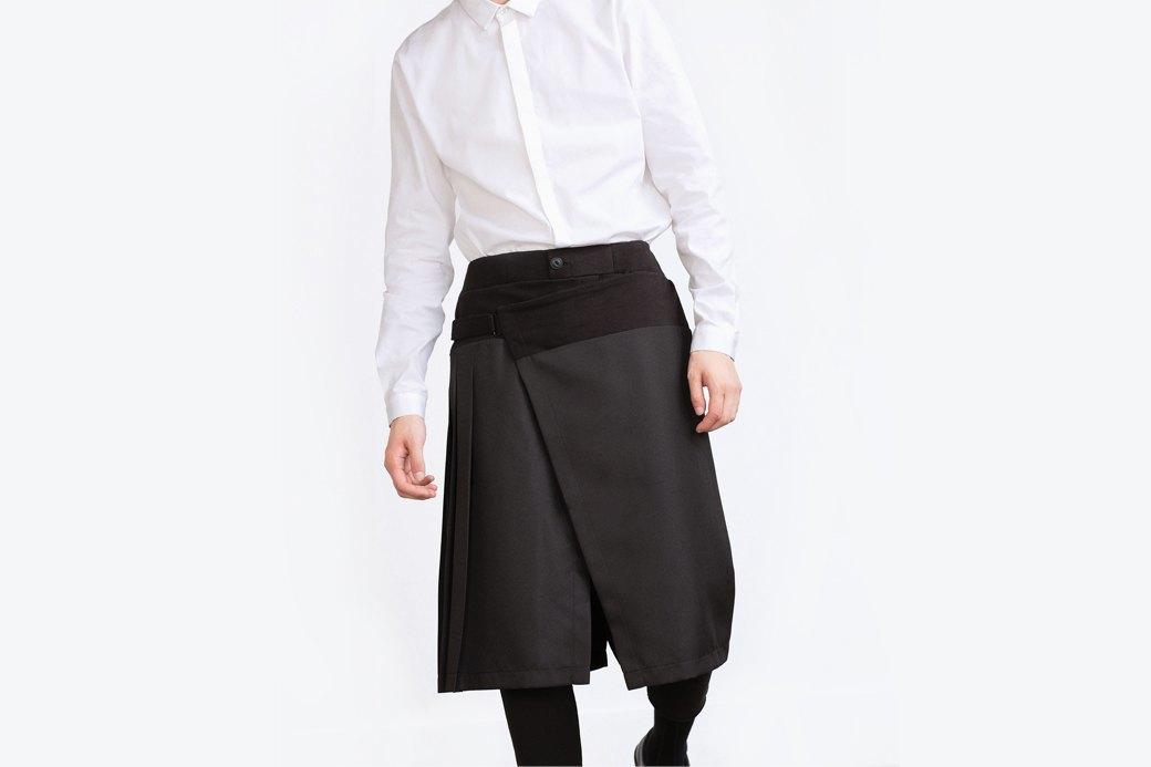 Мужские брюки  с накладной юбкой Zara. Изображение № 1.