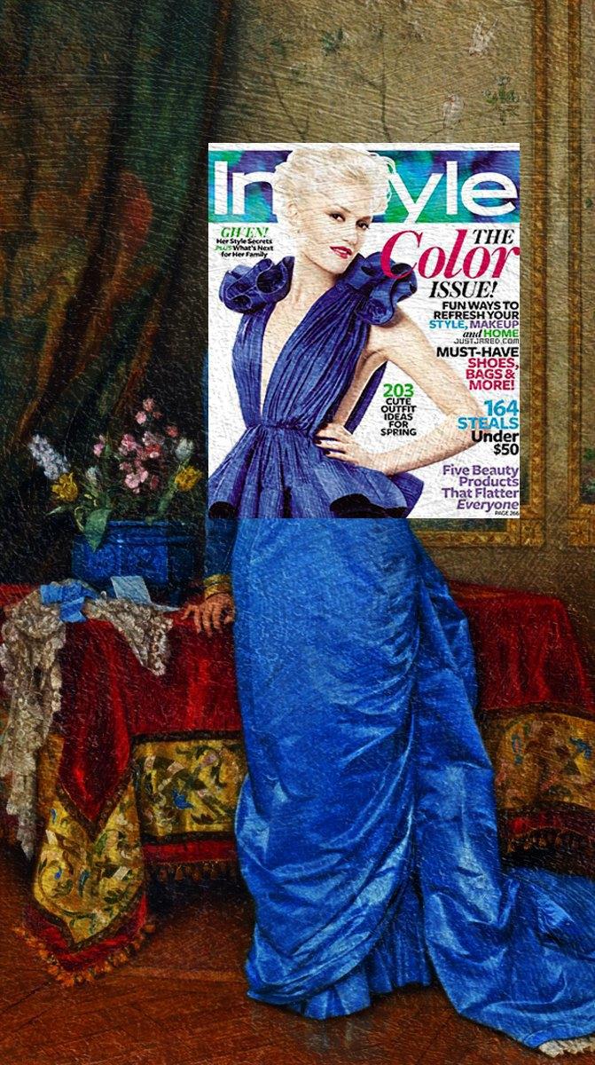 Mag + Art: Коллажи из глянца и живописи. Изображение № 13.