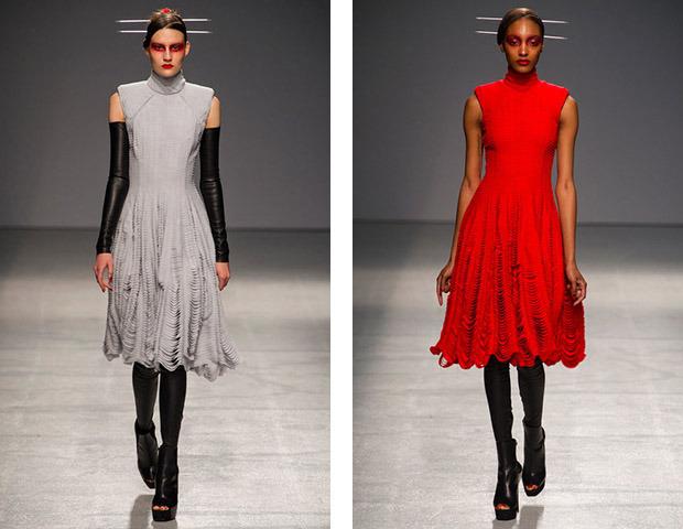 Бэкстейдж Gareth Pugh: Алые платья и «заплаканные» модели. Изображение № 42.