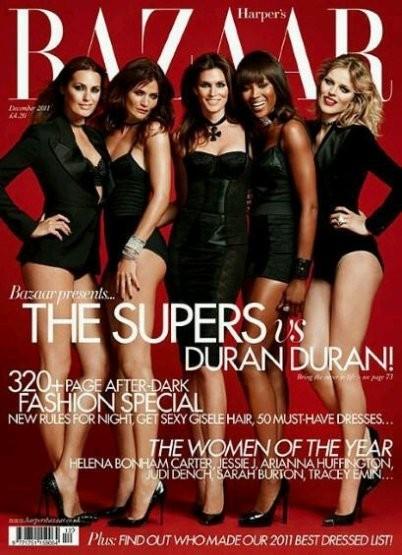 Супермодели на обложке британского Harper's Bazaar, декабрь 2011. Изображение № 18.
