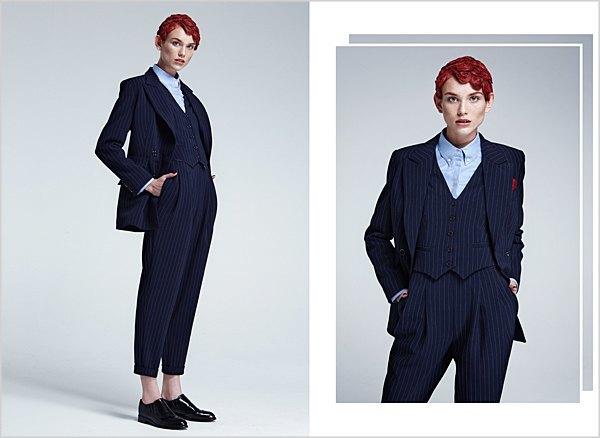 Костюмы в мужском стиле и пальто-халаты в лукбуке Oksana On & Trends Brands. Изображение № 2.