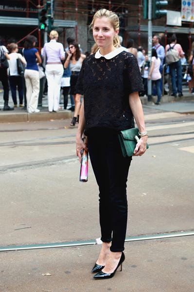 Milan Fashion Week: Уличный стиль, день 5. Изображение № 7.