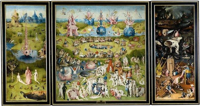 Рекламу выставки с фрагментом картины Босха признали непристойной. Изображение № 1.
