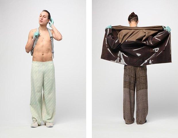 Дизайнер Камилла Кунц:  Мужская одежда, силикон  и мраморный принт. Изображение № 3.