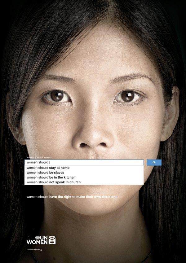 Сексистские запросы в Google стали основой социальной рекламы. Изображение № 4.