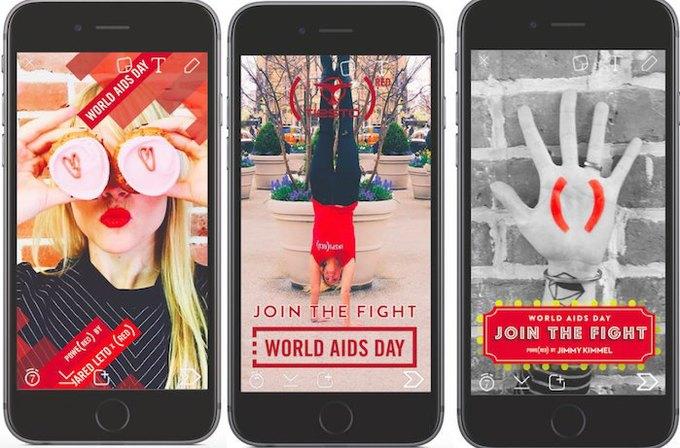 Snapchat и Uber запустили акции к Всемирному дню борьбы со СПИДом. Изображение № 1.