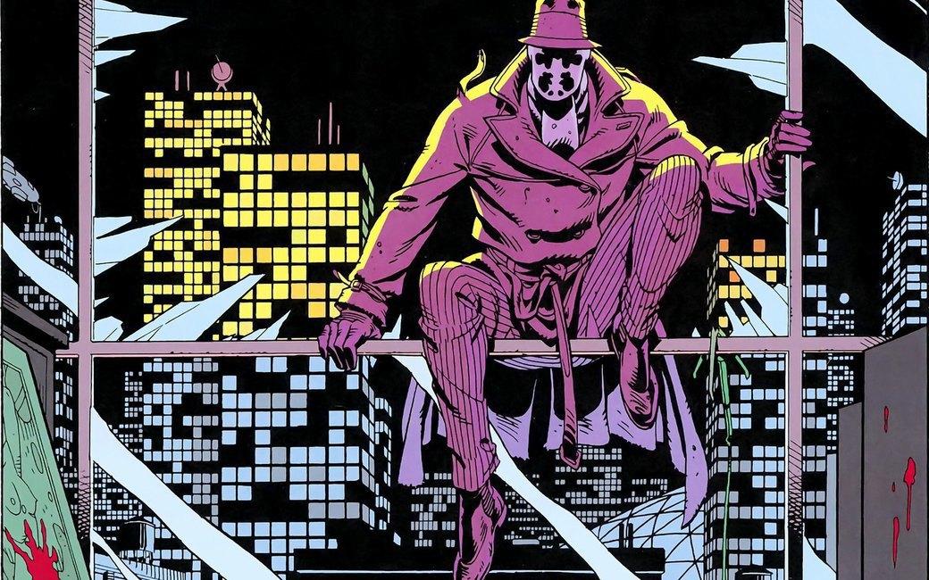 Салли Юпитер (внизу) и Роршах, герои графического романа «Watchmen». Изображение № 5.
