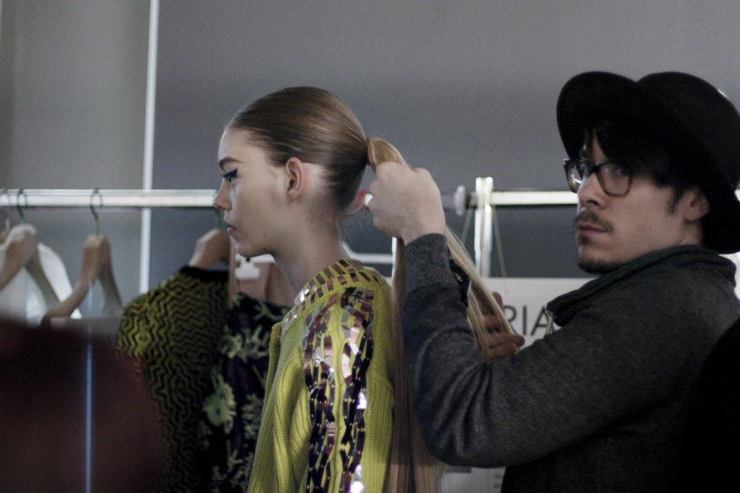 Paris Fashion Week FW 14: Бэкстейдж показа Kenzo. Изображение № 3.