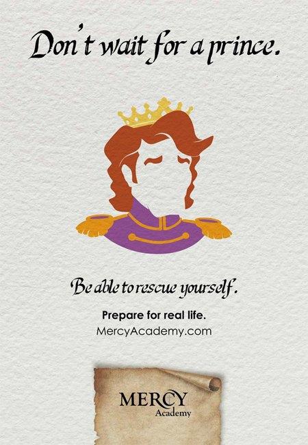 Школа для девочек  запустила кампанию  «Ты не принцесса». Изображение № 2.