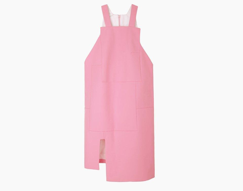 Розовое  платье-передник Jacquemus. Изображение № 1.