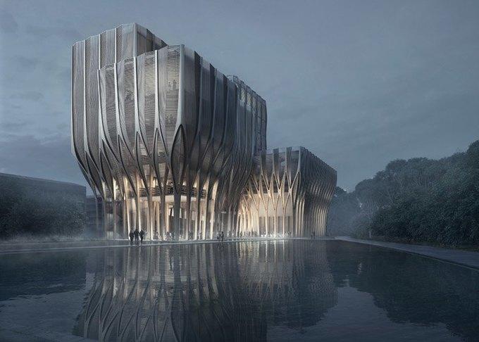 Заха Хадид спроектировала мемориальное здание  в Камбодже. Изображение № 3.