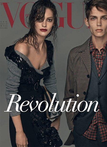 Стивен Мейзел отметил юбилей работы с Vogue шестью обложками. Изображение № 2.