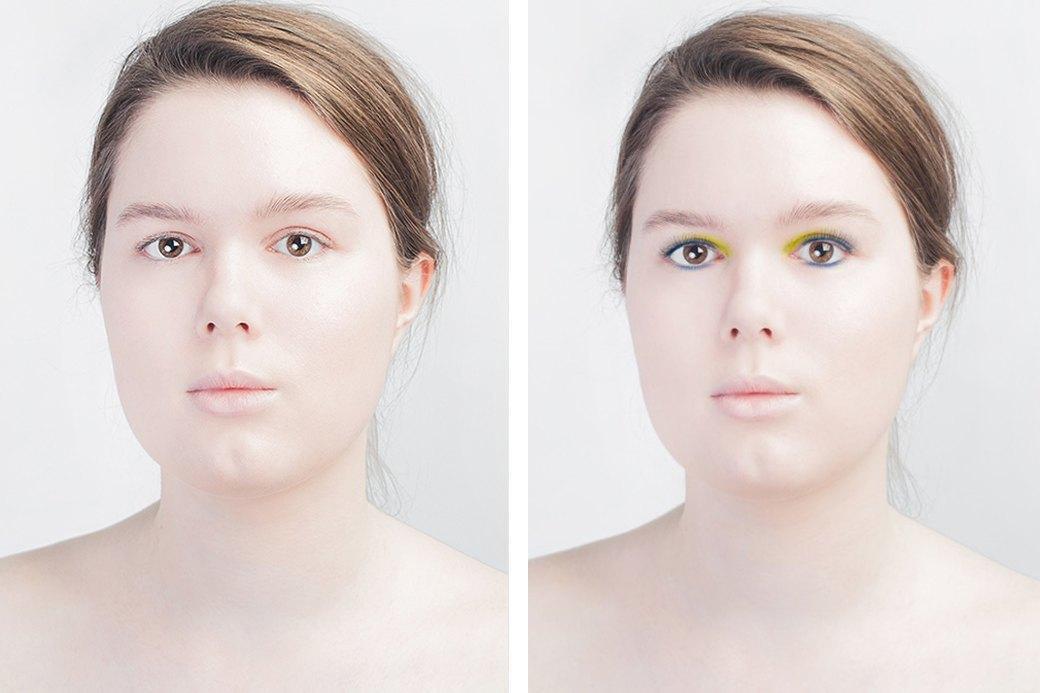 До и после макияжа:  Редакция тестирует  бьюти-приложения. Изображение № 1.