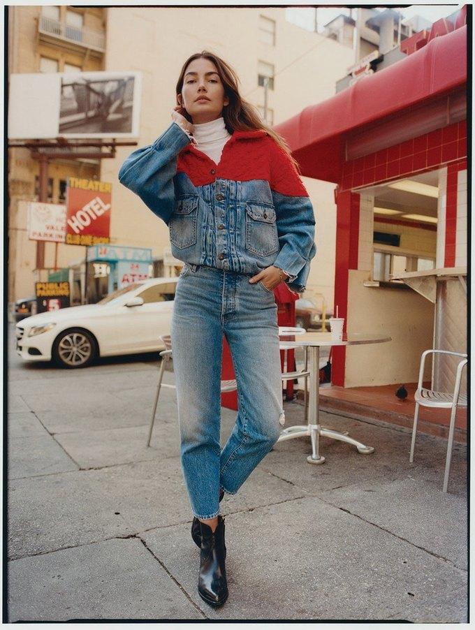Лили Олдридж стала лицом новой кампании Levi's Made & Crafted. Изображение № 4.
