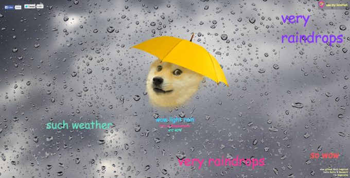 Собака-мем Doge  стала синоптиком. Изображение № 3.