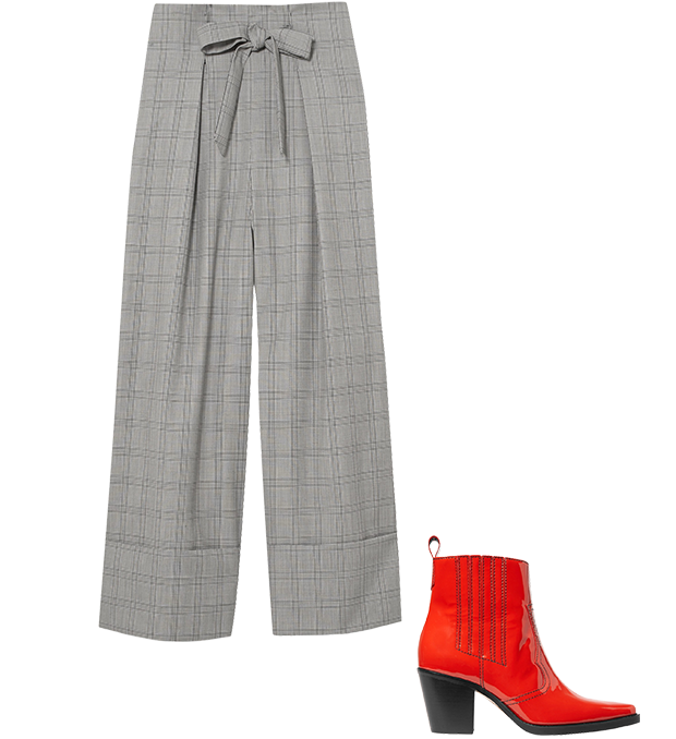 Комбо: Широкие брюки с казаками. Изображение № 2.