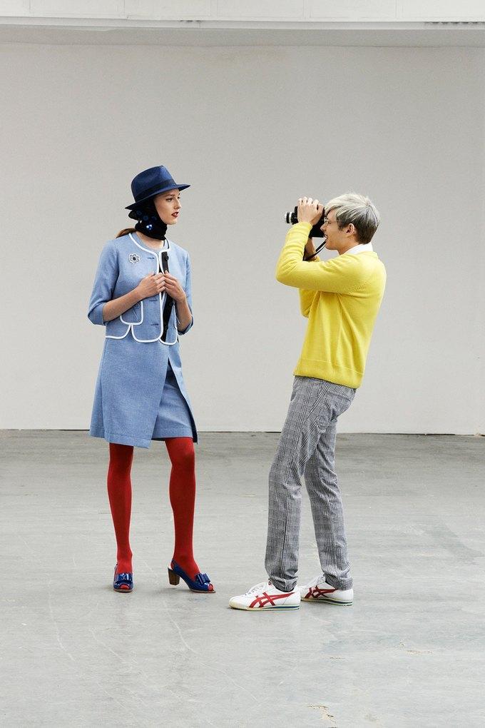 Модели в образах Полетт Годдар и Энди Уорхола в лукбуке Peter Jensen. Изображение № 3.