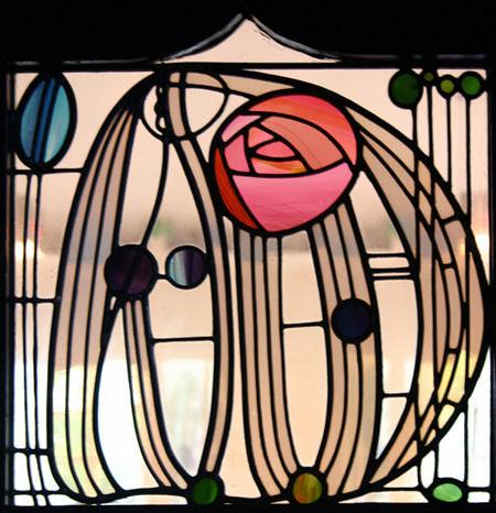 Витраж с розой Макинтоша. Изображение № 11.