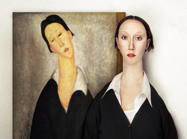 Художница оживила моделей Малевича, Модильяни и Пикассо. Изображение № 3.