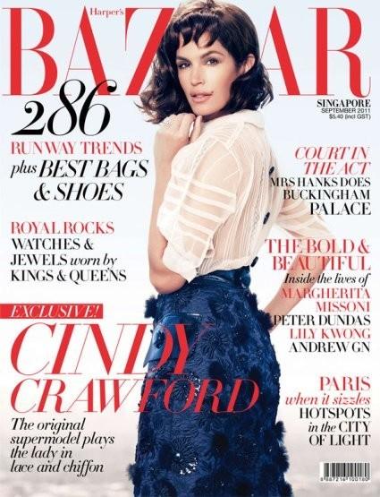 Синди Кроуфорд на обложке мексиканского Harper's Bazaar. Изображение № 19.