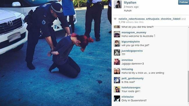 Полицейский попал под следствие из-за фотошутки Лили Аллен. Изображение № 1.