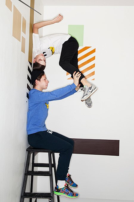 Графичные декорации Алексея Луки в осеннем лукбуке Kixbox. Изображение № 10.