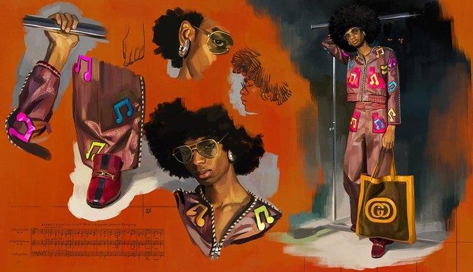 Новую кампанию Gucci нарисовал художник. Изображение № 6.