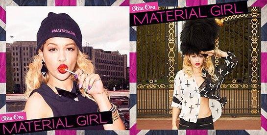 Рита Ора рекламирует марку Мадонны Material Girl. Изображение № 1.