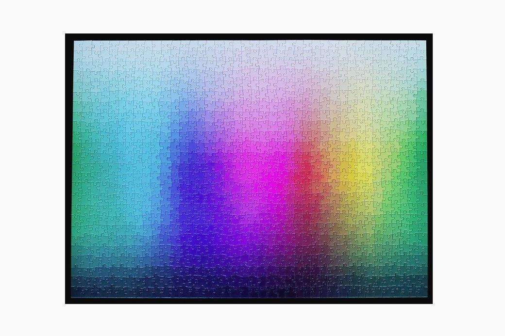 Радужный пазл из 1000 фрагментов  и оттенков. Изображение № 1.