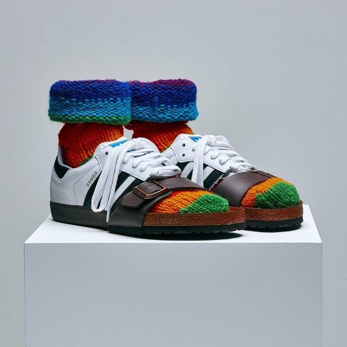 Марк Джейкобс и Белла Фрейд сделали «радужные» кроссовки для adidas. Изображение № 5.