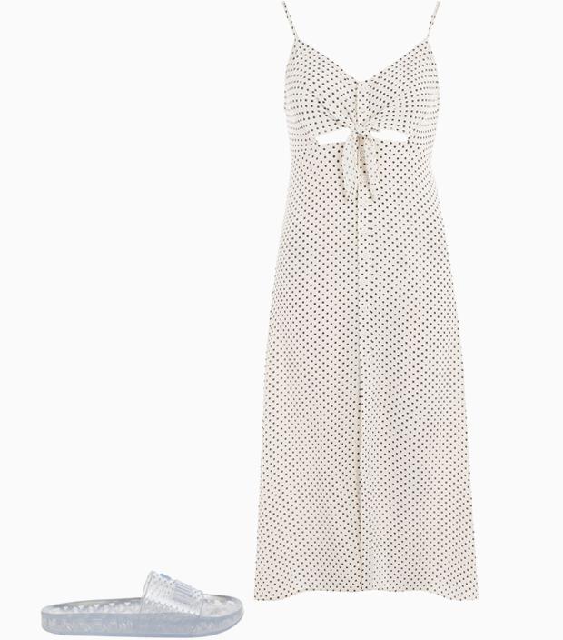 Комбо: Лёгкое платье с резиновыми тапочками. Изображение № 3.