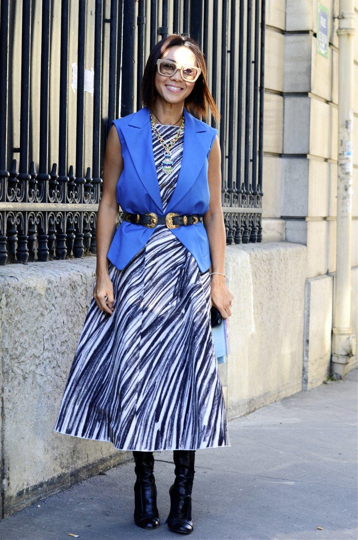 Парень в камуфляже, девушка-Микки-Маус и другие гости Paris Fashion Week. Изображение № 27.