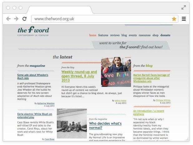Боевой листок:  10 сайтов для девушек  с активной позицией. Изображение № 14.
