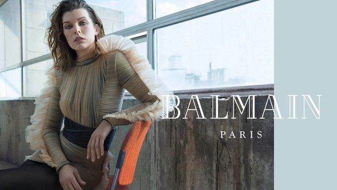 Милла Йовович стала новым лицом Balmain. Изображение № 2.
