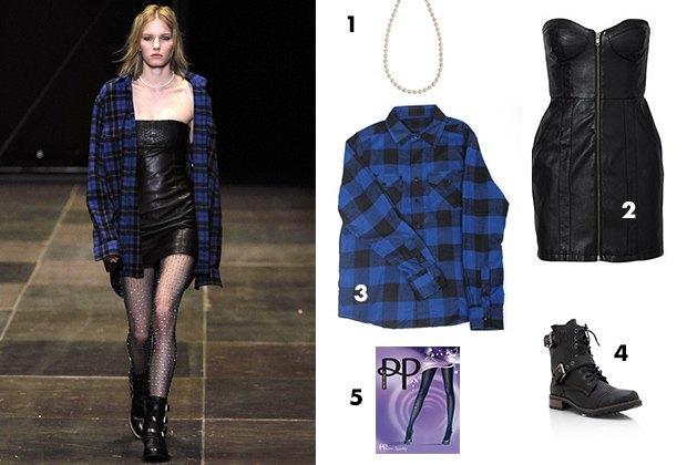 1. Ожерелье John Lewis; 2. Платье H&M; 3. Рубашка Topshop; 4. Ботинки River Island; 5. Колготки Pretty Polly. Изображение № 2.