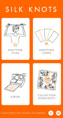 Приложение Hermès научит повязывать шарфы и платки. Изображение № 1.