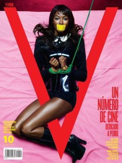 Наоми Кэмпбелл на обложке V Magazine. Изображение № 9.