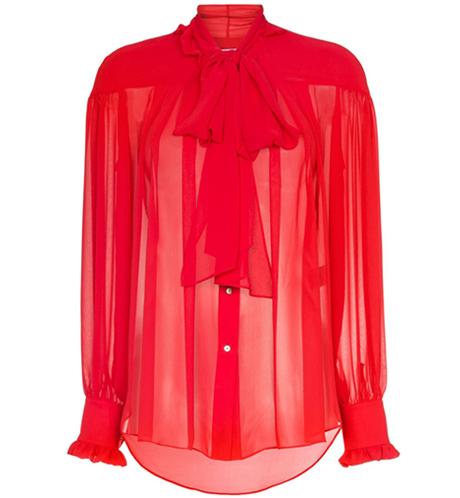 Прозрачные блузки:  От простых до роскошных. Изображение № 6.
