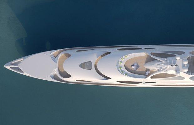Заха Хадид разработала дизайн футуристической суперъяхты. Изображение № 1.