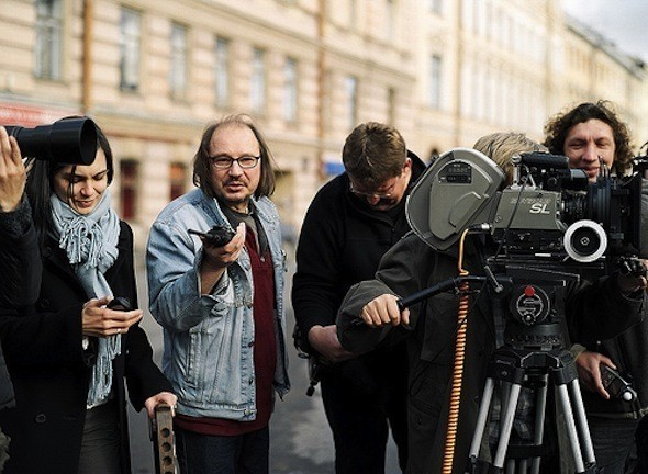 Алексей Балабанов на съемках