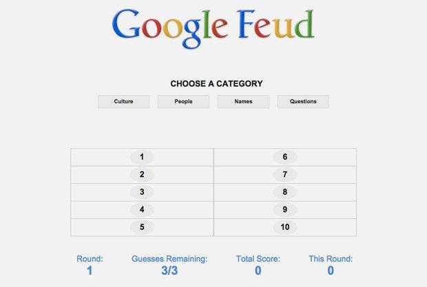 «Google Feud»: викторина  по популярным поисковым запросам. Изображение № 1.