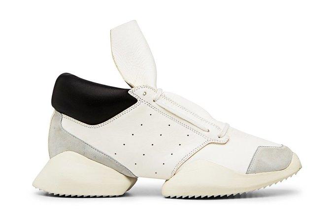 Кожаные и нейлоновые кроссовки Рика Оуэнса для adidas. Изображение № 4.