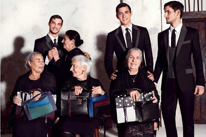 Бабушки и тореадор  в новой рекламе  Dolce & Gabbana. Изображение № 3.