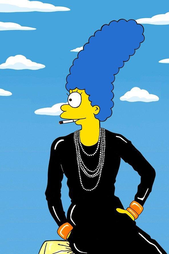 Мардж Симпсон снялась для Vogue. Изображение № 3.