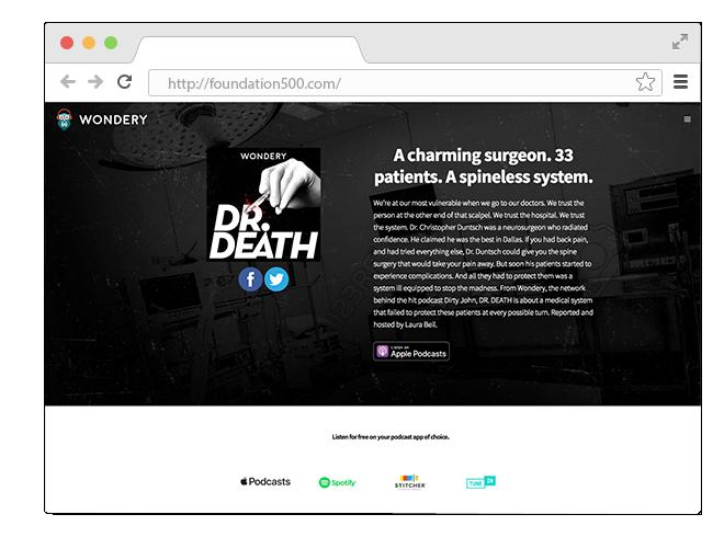 В закладки: Подкаст  о враче-убийце «Dr. Death». Изображение № 1.