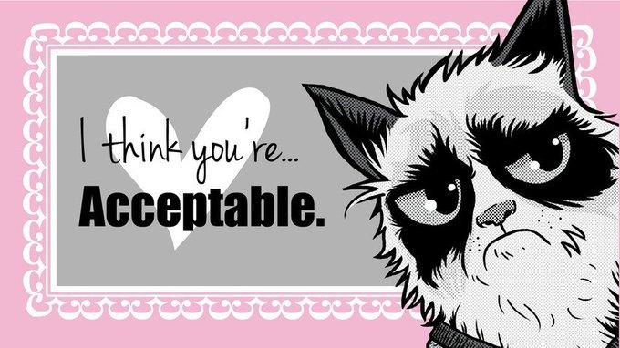 Grumpy Cat стала героиней угрюмых валентинок. Изображение № 9.