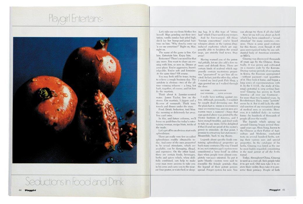 Разворот журнала Playgirl  за 1973 год. Изображение № 14.