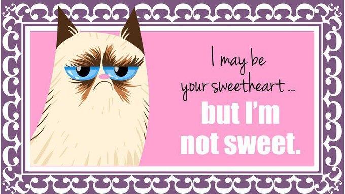 Grumpy Cat стала героиней угрюмых валентинок. Изображение № 5.