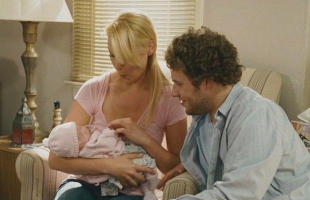 «Немножко беременна», 2007  Сет Роген променял друзей, сайт про сиськи и травку на офисную работу и ребенка. Изображение № 9.